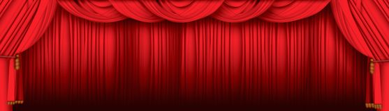 De gordijnen van het theater stock illustratie