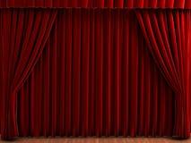 De gordijnen van het theater Stock Afbeelding