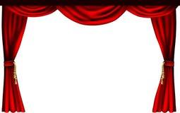 De gordijnen van het theater of van de bioskoop Stock Foto's