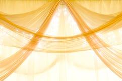 De gordijnen van het venster Royalty-vrije Stock Foto