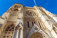 De gotische kathedraal van Heilige Andre, Bordeaux stock afbeeldingen