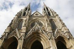 De gotische kerk van Parijs - van Heilige Clotilde Stock Afbeeldingen
