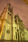 De gotische kerk van Parijs - van Heilige Severin Stock Foto