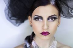 De gotische vrouw van Halloween Royalty-vrije Stock Foto