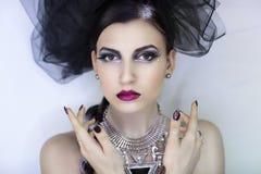 De gotische vrouw van Halloween Royalty-vrije Stock Foto's