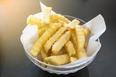 De gouden aardappels van Frieten Royalty-vrije Stock Foto