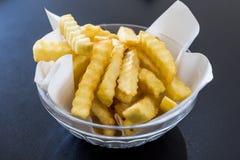 De gouden aardappels van Frieten Royalty-vrije Stock Foto's