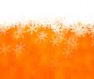 De gouden Abstracte Achtergrond van de Sneeuw Stock Foto's
