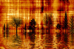 De gouden Abstracte herfst. Stock Afbeelding