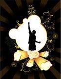 De gouden abstracte vector van de banner Royalty-vrije Stock Foto's