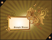 De gouden abstracte vector van de banner Stock Fotografie