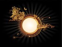 De gouden abstracte vector van de banner Stock Foto