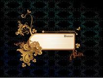 De gouden abstracte vector van de banner Royalty-vrije Stock Afbeelding