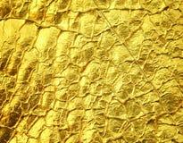 De gouden achtergrond van de folietextuur Royalty-vrije Stock Afbeeldingen