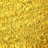 De gouden achtergrond van de folietextuur Stock Foto