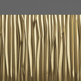 De gouden achtergrond van de Metaaltextuur 3D Illustratie Stock Fotografie