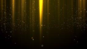 De gouden achtergrond van de Deeltjes lichte toekenning stock afbeeldingen