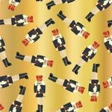 De gouden achtergrond van de folie Naadloze vectornotekraker vector illustratie