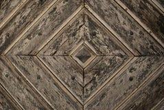 De gouden Achtergrond van het de Deurdetail van Diamond Pattern houten Stock Afbeeldingen