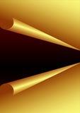 De gouden Achtergrond van het Document Stock Afbeeldingen