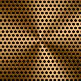 De gouden achtergrond van het metaalscherm Royalty-vrije Stock Afbeeldingen