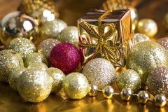 De gouden achtergrond van Kerstmis Stock Fotografie