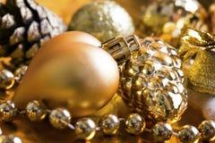 De gouden achtergrond van Kerstmis Royalty-vrije Stock Fotografie