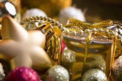 De gouden achtergrond van Kerstmis Stock Afbeelding