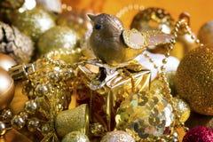 De gouden achtergrond van Kerstmis Royalty-vrije Stock Foto's