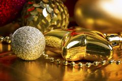 De gouden achtergrond van Kerstmis Stock Foto