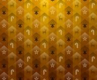 De gouden achtergrond van Kerstmis royalty-vrije illustratie