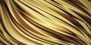 De gouden achtergrond van de luxestof met exemplaarruimte royalty-vrije illustratie