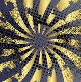 De gouden Achtergrond van Stralen Stock Afbeelding