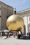 De gouden bal. Salzburg Stock Foto's