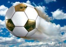 De gouden Bal van het Voetbal Stock Foto's
