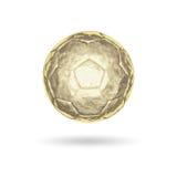 De gouden bal van het Voetbal Stock Afbeelding