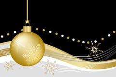 De gouden Bal van Kerstmis Royalty-vrije Stock Foto's