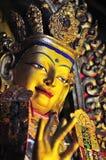 De gouden beelden van Boedha Stock Foto