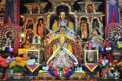 De gouden beelden van Boedha Royalty-vrije Stock Afbeelding