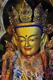 De gouden beelden van Boedha Royalty-vrije Stock Afbeeldingen