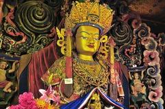 De gouden beelden van Boedha Stock Afbeelding