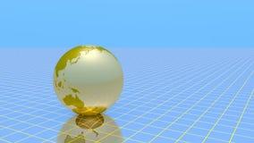 De gouden bol roteert stock footage