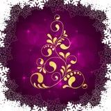 De gouden boom van Kerstmis royalty-vrije illustratie
