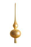 De gouden bovenkant van de Kerstmisboom Royalty-vrije Stock Afbeeldingen