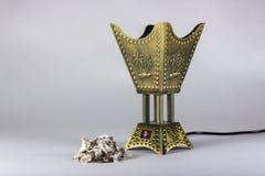 De gouden brander van de wierookvatwierook Stock Foto's