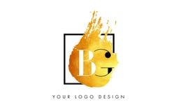 De Gouden Brief Logo Painted Brush Texture Strokes van BG Stock Foto's