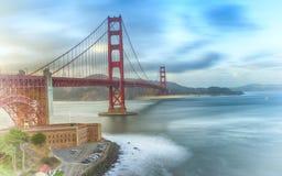 De gouden Brug San Francisco van de Poort Stock Afbeelding