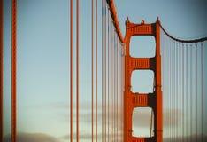 De gouden brug van de Poort bij zonsondergang royalty-vrije stock afbeelding