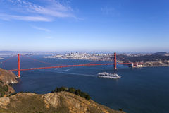 De gouden Brug van de Poort, San Francisco, Californië, de V Stock Fotografie