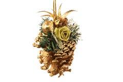 De gouden buil van Kerstmis Stock Fotografie